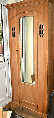 Art Deco Satinwood wardrobe narrow compact
