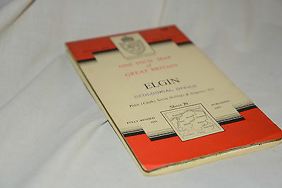 Nice Vintage Ordnance Survey Seventh Series CLOTH Map: ELGIN 29