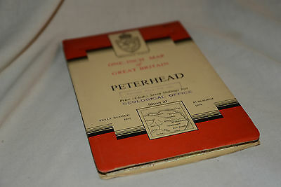 Nice Vintage Ordnance Survey Seventh Series CLOTH Map: PETERHEAD, 31
