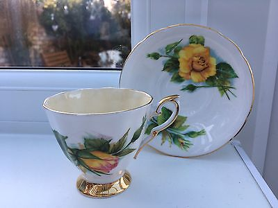 Paragon China Cup Saucer Famous Roses Harry Wheatcroft Paragon Mme Sauvage Peace