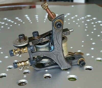 Aaron Cain Damascus Liner tattoo machine, very rare