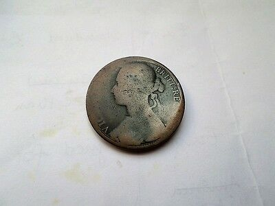 1879 Young Bun Head Victoria British Penny-(Combined Postage)