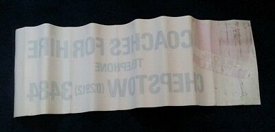 Large National Bus Company, Red & White Coach Window Sticker circa 1990