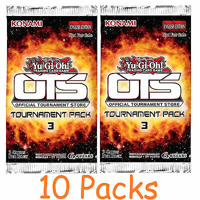 Yu-Gi-Oh Cards: Tournament Pack 3 - 10 Sealed Booster Packs - OTS3 OP03 OTS 3