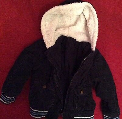 Hooded Cotton Coat Lined With Hood By St Bernard For Dunnes 3-4 Years