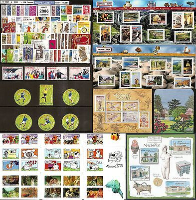 FRANCE Année COMPLETE 2006 - NEUF ** LUXE - 135 Timbres