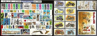 FRANCE Année COMPLETE 2002 - NEUF ** LUXE - 97 Timbres