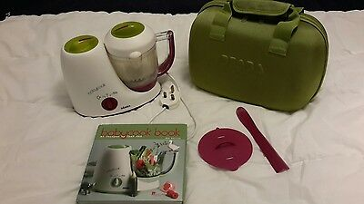 Beaba babycook with travel bag and recipe book