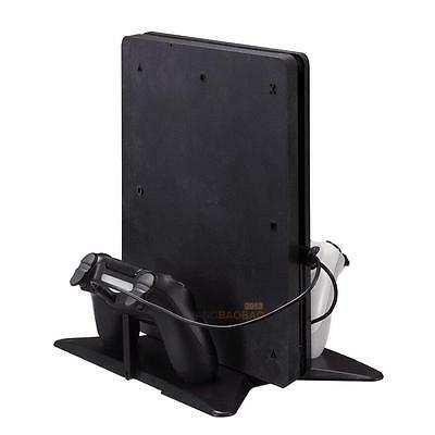 2 in 1 Vertical Stand Mount Dock Base Cradle Holder for PS4 Pro PS4 Slim Console