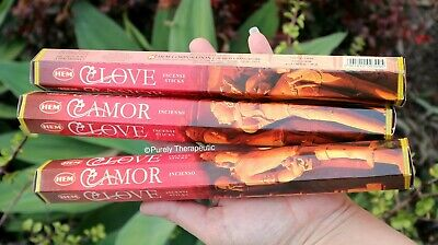 LOVE INCENSE STICKS~Hem~Hexagonal Pack of 20 Sticks~Wicca Pagan Reiki Fragrance