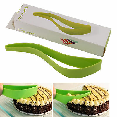 Fashion Cake Pie Slicer Sheet Guide Cutter Server Bread Slice Knife Kitchen Tool