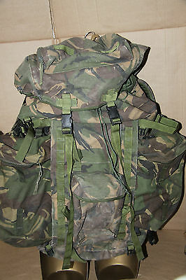 Genuine British Army Rucksack Bergen 120L DPM Camo with Side Pockets Long Grade1