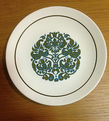 """RIDGWAY IRONSTONE """"MARTINIQUE"""" SIDE CAKE BREAD & BUTTER PLATE Retro MID CENTURY"""