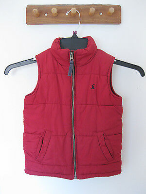 JULES Red GILET/BODYWARMER, 3 Years / Height 98cm, EXCELLENT CONDITION!