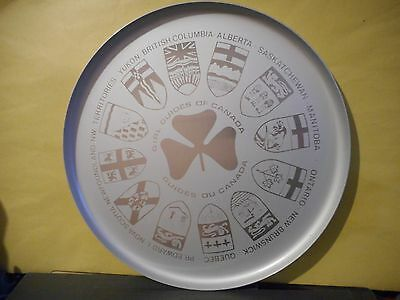 Girl Guides Of Canada Serving Tray,coat Of Arms Of The 12 Provinces...
