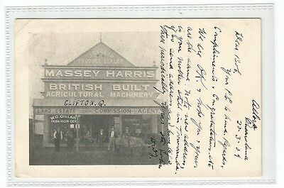 Massey Harris Advertising Acricultural Machinery Rp Qld C1909