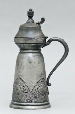 Antique English 19C ~1870 Aesthetic Movement Ornamented Jug Derby Silver Co. H8""