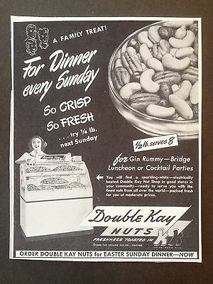 Vintage 1948 Ad(Mc29)~Double Kay Nuts For Sunday Dinner