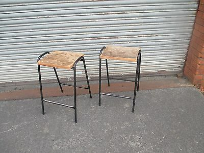 Vintage Retro Industrial Stacking Science Lab School Cafe Bar Kitchen Stools