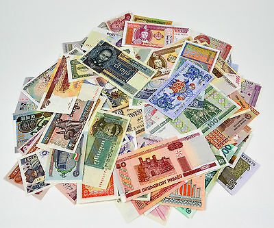 50 Different world paper money collection. non-repetition of all, UNC, 50PCS