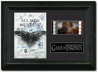 Game of Thrones 35 mm Framed Film Cell Display Signed Stunning Collectible S3