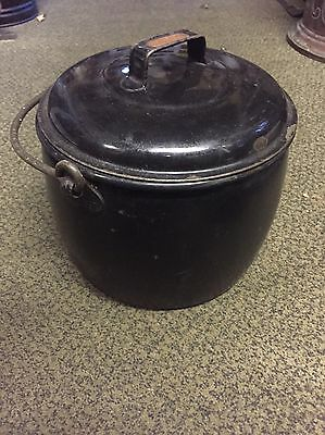 Antique Hanging Gypsy Pan/pot With Lid Judge Brand 12 Pints