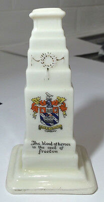 Vintage Collectable Crested Ware China Ww1 Cenotaph War Memorial Torquay