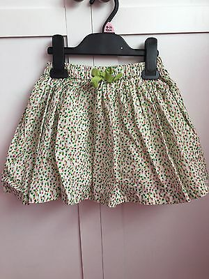 Next Girls Green And White Skirt Size 18-24 Months