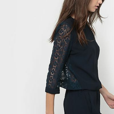 La Redoute Womens Playsuit With Lace Back