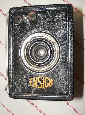 Vintage Houghton & Butcher Ensign All Distace Twenty Box Camera With Case