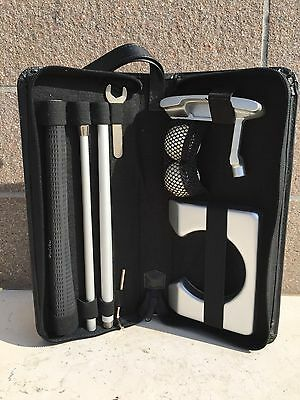 Set Da Golf Portatile Con Custodia In Ecopelle