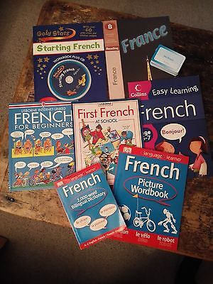 KS1 Selection French workbooks, cd and flash cards