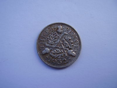 George V 1932 Silver Threepence coin