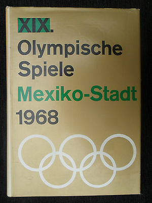 """5080 EAST GERMAN/DDR/GDR COLD WAR """"MEXICO"""" 19th Olympics Book circa1968"""
