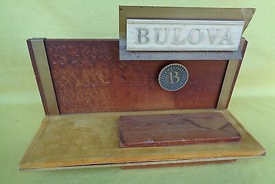 Vintage Bulova Sign Watch Jewelry Store Counter Display Advertising