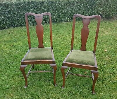 2 Vintage Dining Chairs Dining / Hall /Bedroom Vintage Chairs