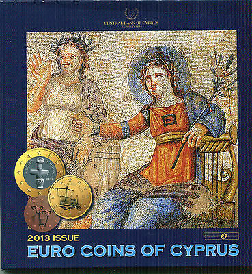 Chipre Cartera Euro Coin Set 2013  Official Issue
