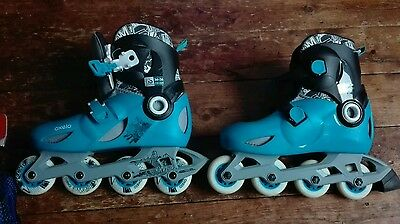 boys  girls inline Roller Blades skates fit size 2 to 3 ,with safety pads