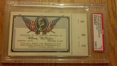 1907 President William McKinley National Memorial Dedication Full Ticket PSA 5