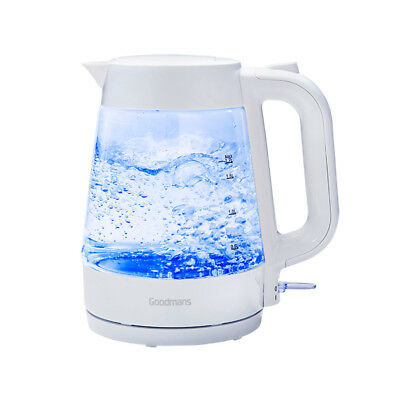 A Lovely 1.7 Litre  Goodmans  Stylish Illuminating Glass Kettle- White
