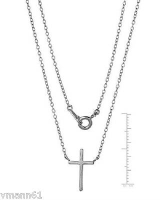 Cross Necklace With Genuine Diamond 925 Sterling Silver