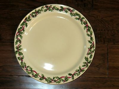 Workshops Of Gerald E Henn 12 Inch Hollyware Holly Ware Christmas Charger Plate