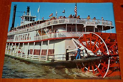 2 Posters Natchez Steam / Paddle Boat In New Orleans In 1970S - Vintage Retro