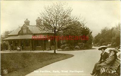 Real Photographic Postcard Of The Pavilion, Park, West Hartlepool, County Durham