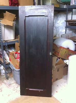 Vintage wood Cabinet Door With Glass Pull Architectural Salvage