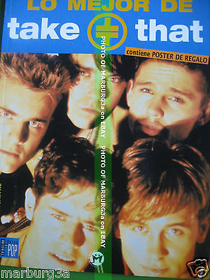 Take That  LO MEJOR DE ... BOOK PHOTOS 1997 + POSTER  47 PGS + FREE AIRMAIL W