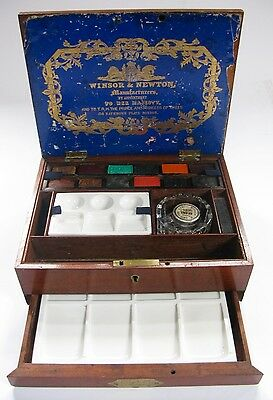 Antique Artists Watercolour Box By Winsor and Newton