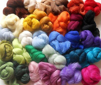 Merino Wool Tops Variety Pack 30 Colours