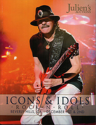 HUGE CATALOG JULIEN'S AUCTIONS ICONS & IDOLS ROCK-N-ROLL DECEMBER 1st & 2nd 2012