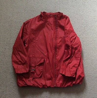girls red waxed IKKS jacket Age 8 RRP £49